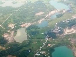 Foto udara lubang Tambang Samarinda 2021 I Dokpri