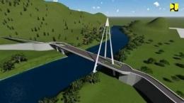 Desain Jembatan Tano Ponggol (Foto : medan.tribunnews.com)