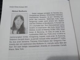 Keterangan singkat tentang Melani Budianta, sumber: dokumentasi pribadi