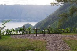 View yang indah The Kaldera Toba Nomadic Escape (Foto pribadi)