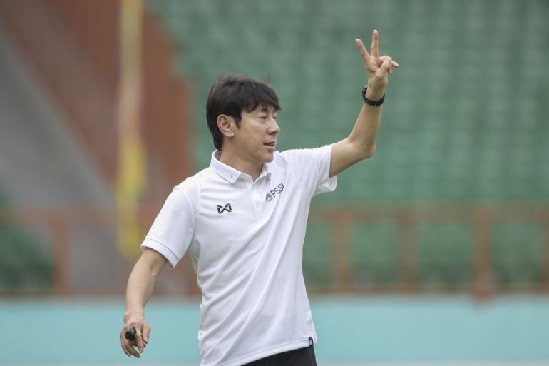 Coach Shin Tae Yong. (Sumber: pssi.org)