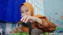 Mahasiswa KKN UVBN Sukoharjo Melakukan Penyuluhan dan Pembuatan Handsanitazer Bahan Alami