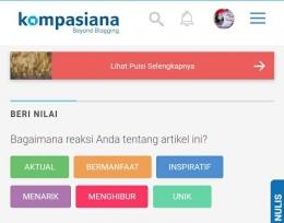Dokpri tangkap layar Kompasiana oleh penulis.