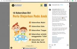 Adaptasi Teknologi Media Sosial Instagram SD Pangkalan Kota Bandung dengan Memposting konten Edukatif - dokpri