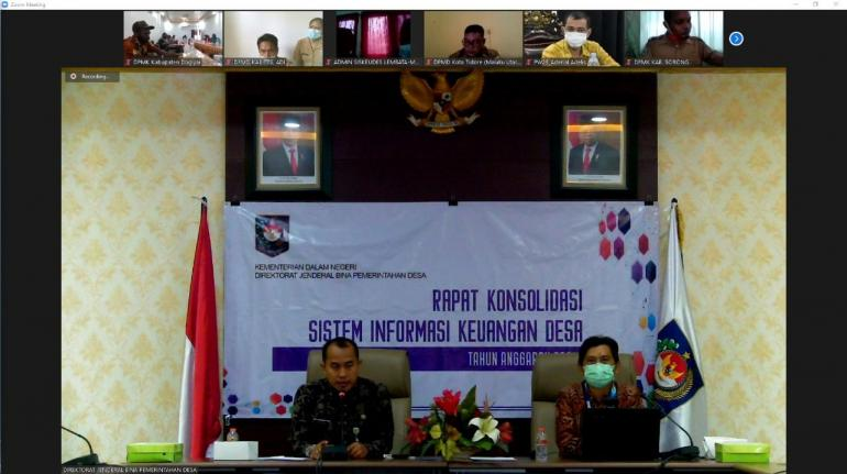 Pemaparan materi laporan konsolidasi realisasi pelaksanaan APBDESA (Dok.Pri)