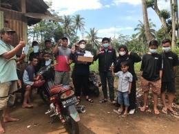 Keceriaan Berbagi Masker Bersama Warga Dusun Dieng/dokpri