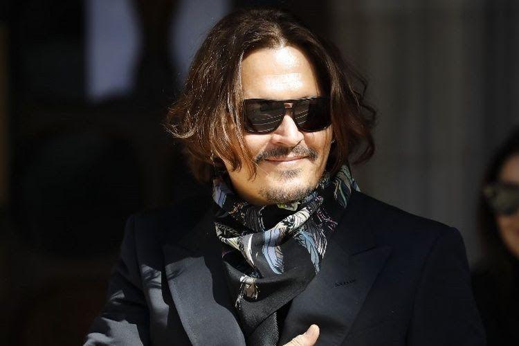 Potret Johnny Depp (Sumber: Via Kompas.com)