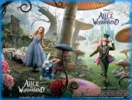 Cover film Alice in The Wonderland yang diperankan oleh Johnny Depp bersama aktris Mia Wasikowska. (Sumber: Via Gone With The Twins)