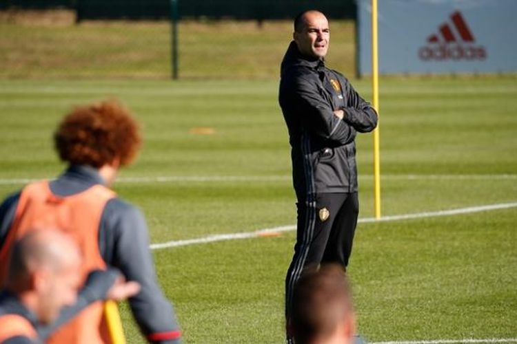 Roberto Martinez yang saat ini masih menjadi pelatih tim nasional Belgia, disebut menjadi kandidat kuat pengganti Ronald Koeman.| Sumber: BRUNO FAHY/BELGA/AFP via Kompas.com