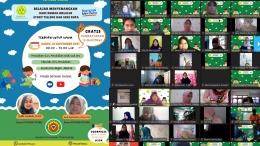 Dokumentasi seminar Online PG PAUD 2021 - Peserta