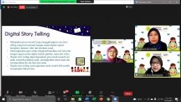 Dokumentasi Seminar Online PAUD - Materi Storytelling