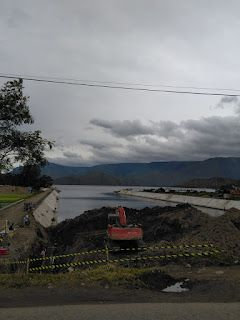 Proyek Jembatan Aek Tano Ponggol(Sumber foto dok. Veronika br Naibaho)