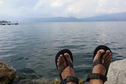 Jejak kaki di Tomok, Samosir (dokumen pribadi)