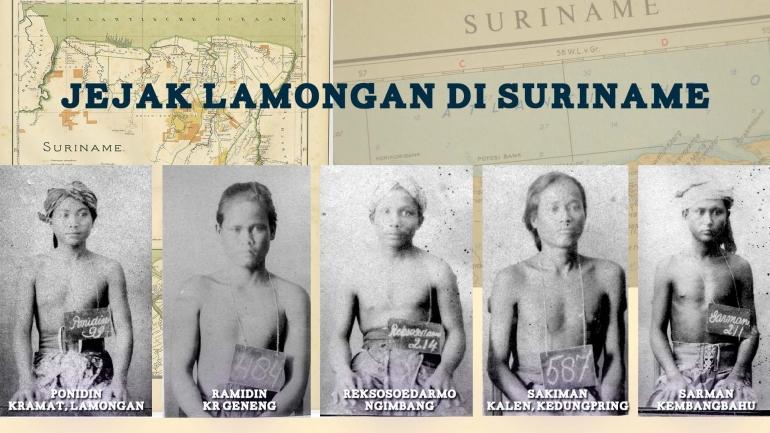 Beberapa orang Lamongan yang dipekerjakan di Guyana Belanda (Suriname). Foto: Arsip Nasional Belanda