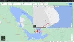 Gambaran Lokasi Onan Runggu (Sumber: tangkapan layar Google Map)
