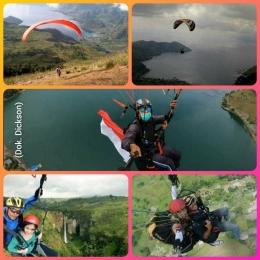Atraksi wisata Paralayang dari Tongging, Kab. Karo, Sumut. (Dok. Dickson Pelawi)
