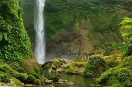 Air Terjun Bukit Gibeon Sumatera Utara. | Foto Dinas Kebudayaan dan Pariwisata Sumatera Utara diambil dari kompas.com