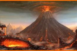 Ilustrasi gunung meletus (Sumber gambar : Bobo.grid.id)