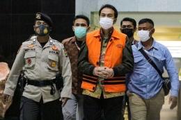 Wakil Ketua DPR Azis Syamsuddin ditahan. (KOMPAS.com/ KRISTIANTO PURNOMO)