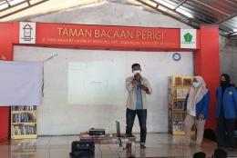 Gambar 5 : Sambutan Ka Galang Arian Ramadhan selaku Ketua Taman Bacaan Perigi