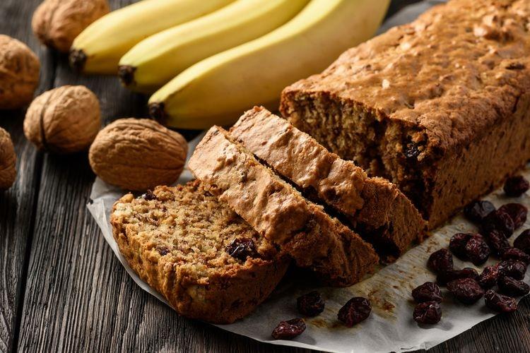 Ilustrasi bolu pisang almond. Sumber: Shutterstock via Kompas.com
