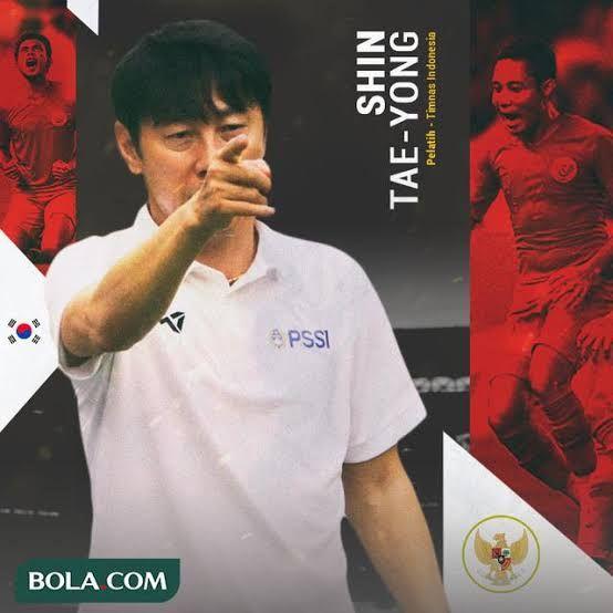 Shin Tae-yong, pelatih Timnas Indonesia. Sumber gambar ; bola.com