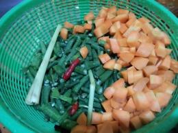 Bahan-bahan membuat sayur lodeh (Dok. Pribadi)