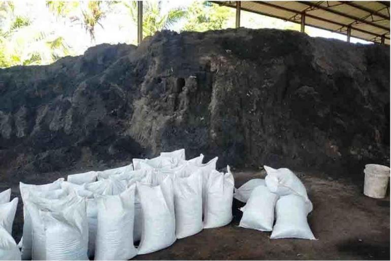 Produksi Pupuk Kompos Temesi (sumber: Bali Post)