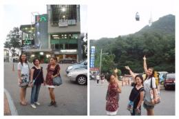 Puncak Gunung Namsan, kami berencana naik kereta gantung (Dokumentasi Pribadi)