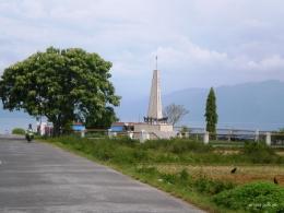 Tugu Samosir di dekat Pelabuhan Onan Runggu (Dokumentasi pribadi)