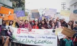 Gerakan Mera Jism Meri Marzi (my body my choice) di Pakistan yang digagas sejak 2018. Foto : Pakistan Today