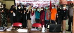 Kerjasama antara Mahasiswa UMM dengan pihak Kesehatan, TNI/POLRI dan Perangkat Desa (Dokpri)