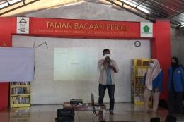 Sambutan Oleh Kak Galang Arian Ramadhan Selaku Ketua Umum Taman Bacaan Perigi