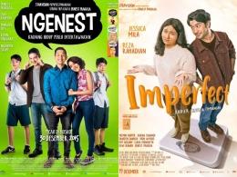 Poster film Ngenest (2016) dan Imperfect: Karier, Cinta, & Timbangan. Sumber: soco.id