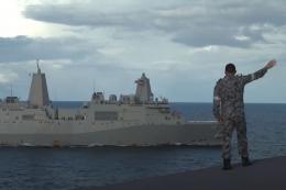 AUKUS berarti Australia dan AS akan bekerja sama secara erat dalam operasi laut di masa depan. (ROYAL AUSTRALIAN NAVY via BBC INDONESIA)