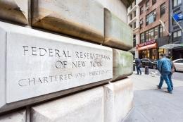 Bank federal AS, Federal Reserve Bank of New York.  Sumber: Shutterstock via Kompas.com