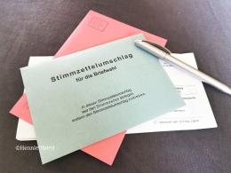 Kertas suara pemilu Jerman   foto: HennieTriana