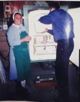 Keramik siap di Oven/ dibakar ( dok pri)