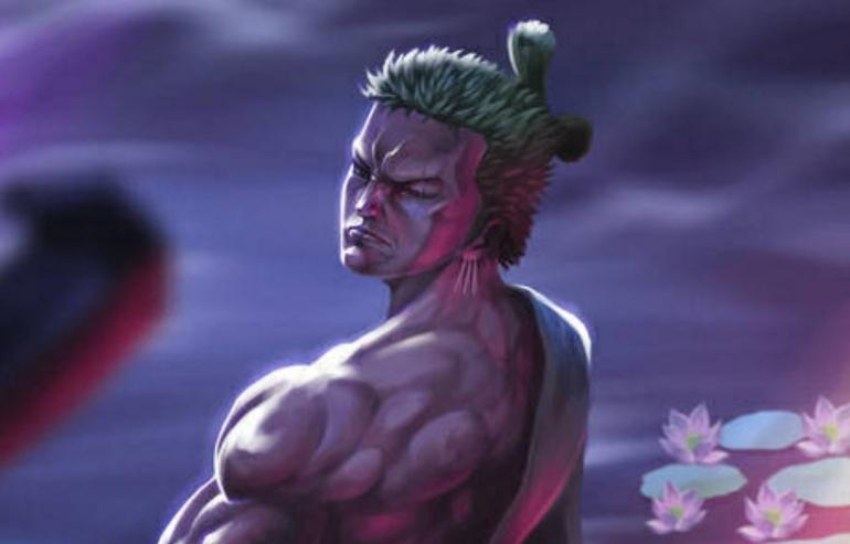 Illustrasi Zoro dalam Arc Wano Kuni One Piece. (Sumber: Dok. DevianArt by Hiken Kun)