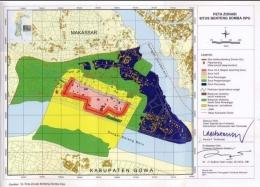 Inilah Peta Zonasi Benteng Somba Opu yang telah ditretapkan Pemprov Sulsel untuk dijadikan panduan apabila hendak melakukan pembangunan dalam kawasan Benteng Somba Opu