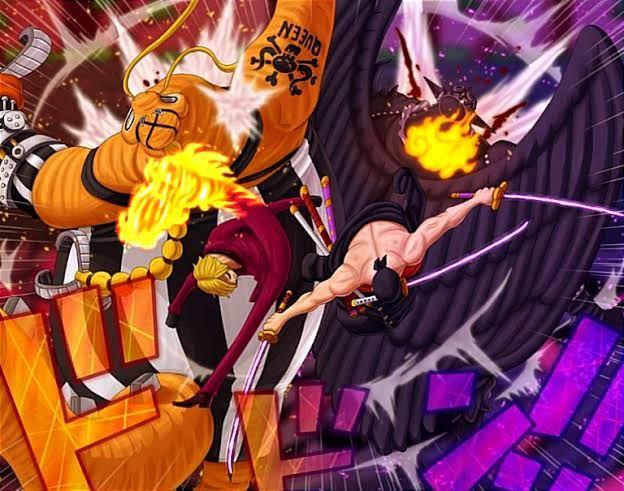Zoro Vs King, highlight One Piece chapter 1027. (Sumber: tumgir.com)
