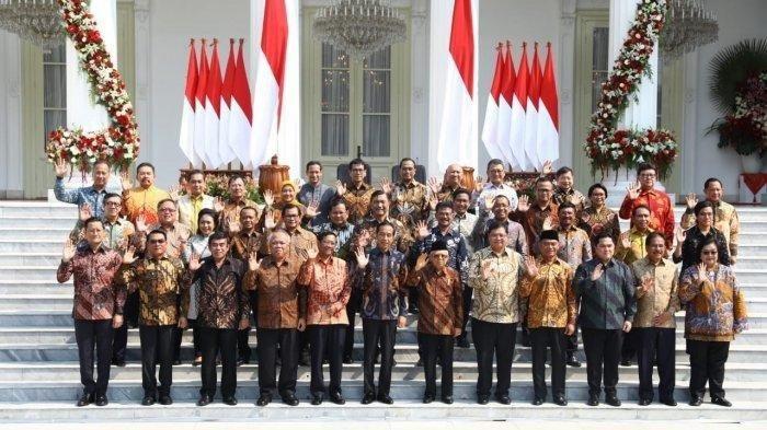 Kabinet menteri Jokowi. Sumber foto: Tribunnews.com