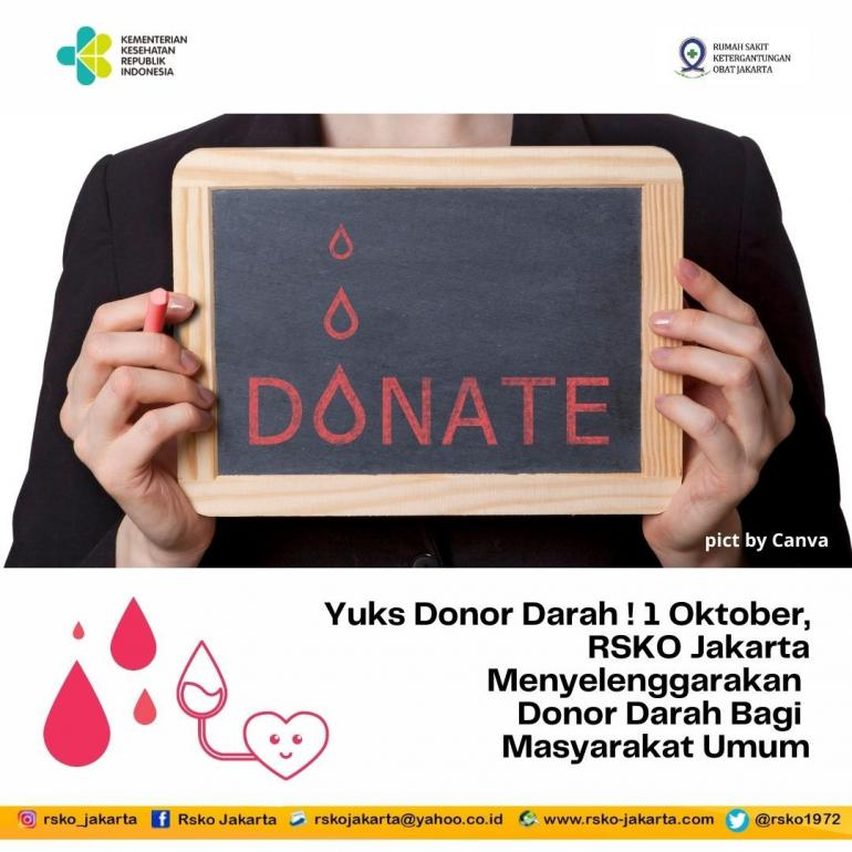 RSKO Jakarta Donor Darah I Sumber Foto: dokpri