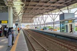 Jalur 12-13 gedung baru Stasiun Manggarai, Minggu (26/9/2021). (Foto: KOMPAS.com/SINGGIH WIRYONO)