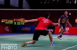 Jonatan Christie menghadapi Bryan Yang: badminton photo