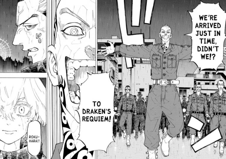 Rokuhara Vs Brahman, Tokyo Revengers chapter 224. (Sumber: catmanga.org)