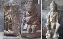 Beberapa arca di Museum Radya Pustaka (dok.pribadi).
