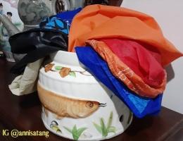 Reuseable Bags milik penulis dan keluarganya di rumah. (dokumen pribadi)