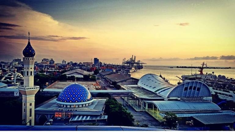 View Pelabuhan Makassar. (Dokpri)