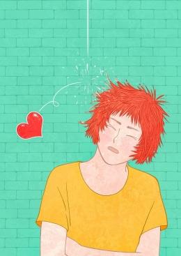 Ilustrasi Seorang lelaki kejatuhan lambang hati /Modal Cinta (Foto: Saydung89 Via Pixabay)
